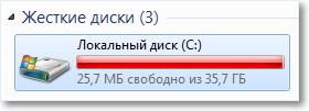 Заполнен диск С