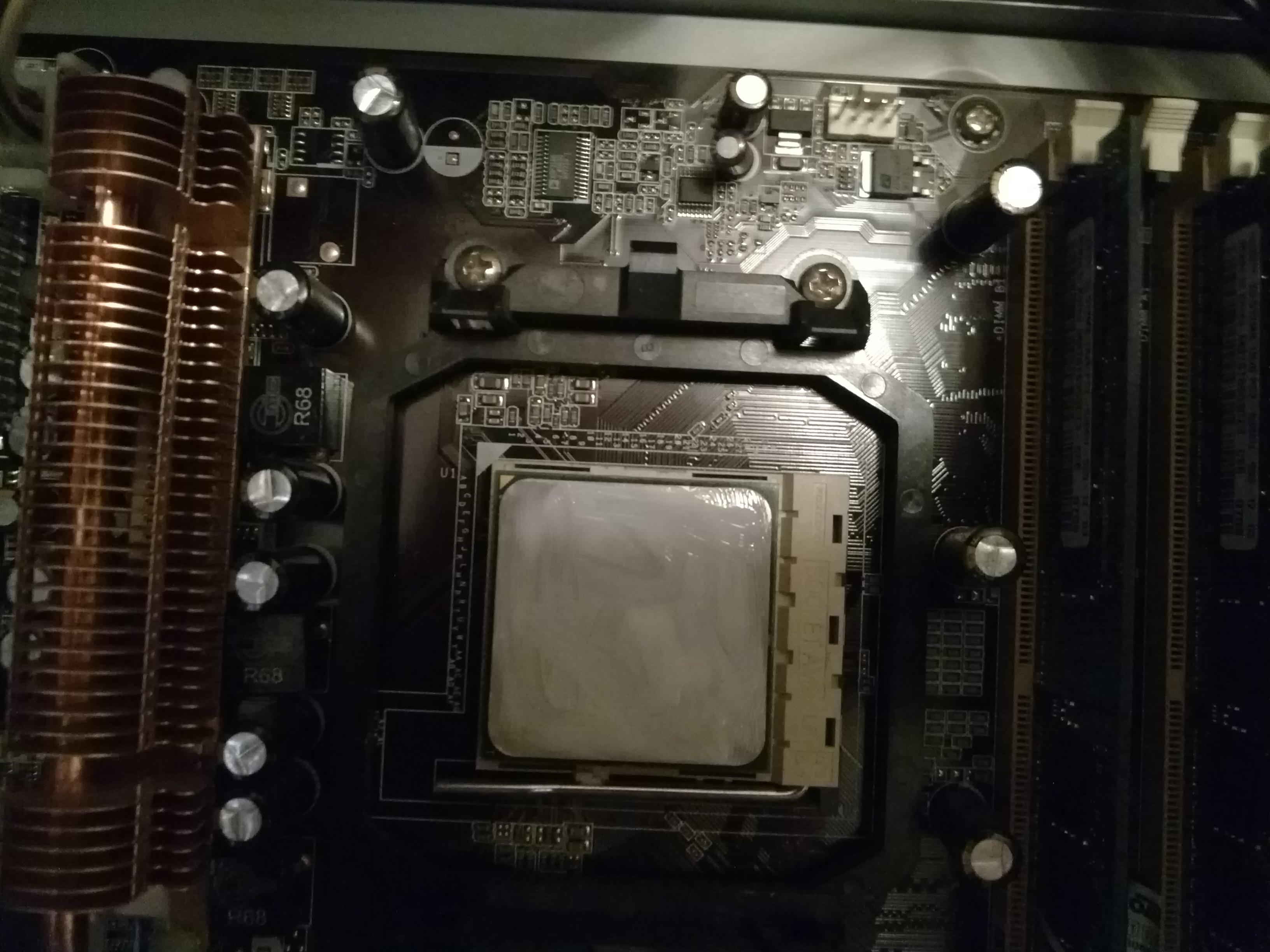 процессор с новой термопастой
