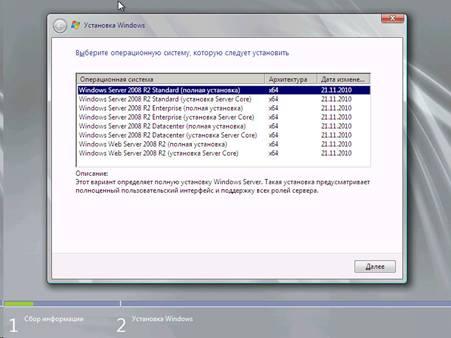 Выбор нужной версии серверной операционки